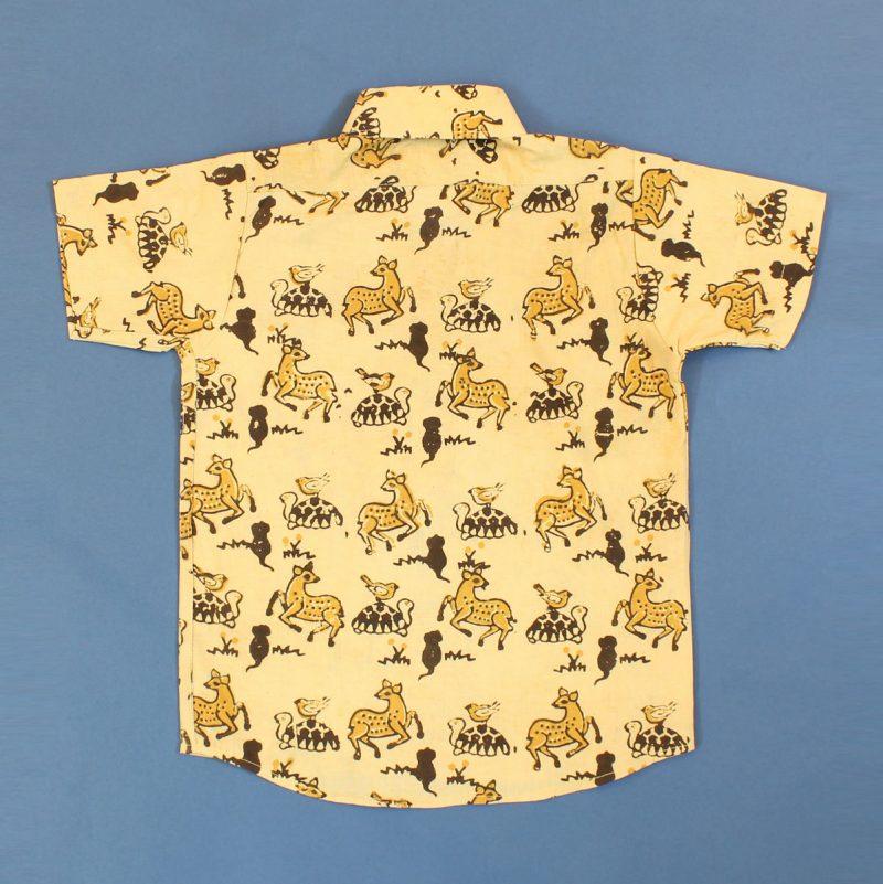 BSH05 Yellow Deer Shirt Back 02
