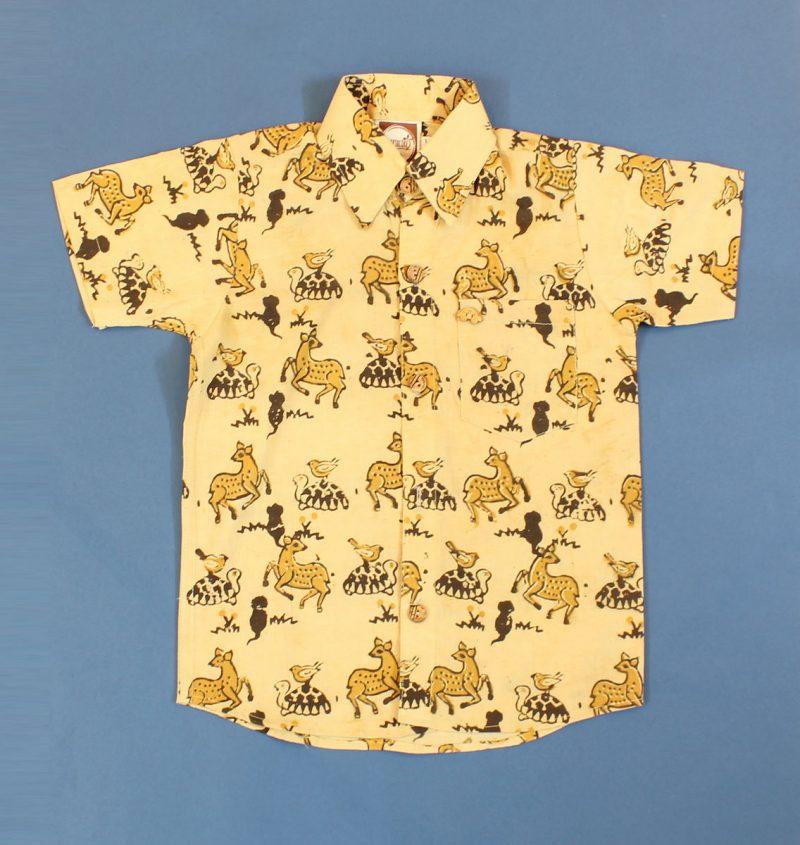 BSH05 Yellow Deer Shirt Front 01