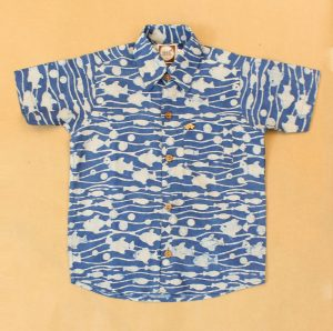 BSH11 Indigo Fish Shirt Front 01