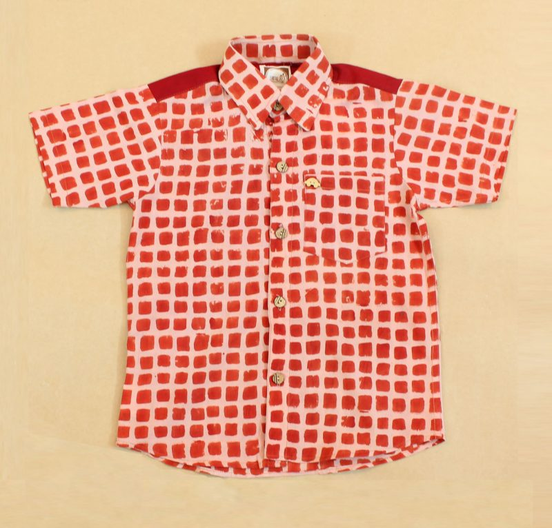 BSH12 Red Square Shirt front 01