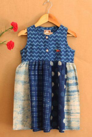 GDR19 Multi print dress front 01