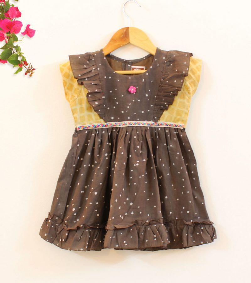GDR21 Splatter Print dress front 01