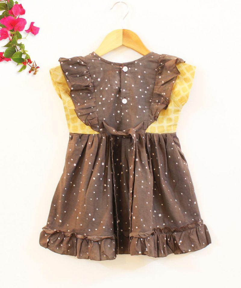 GDR21 Splatter print dress back 02